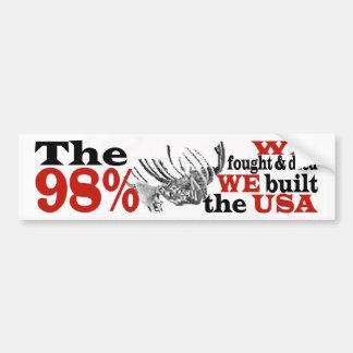 Der 98% PROTEST Autoaufkleber