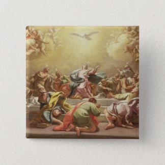 Der Abfall des Heiliger Geist Quadratischer Button 5,1 Cm
