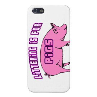 Der Abfall ist für Schweine iPhone 5 Schutzhülle