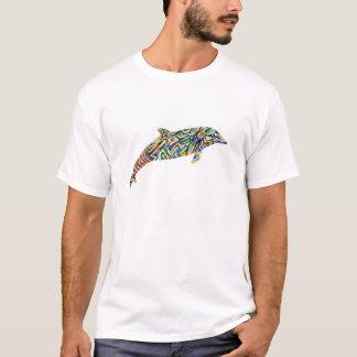 Der abstrakte T - Shirt der Delphin-Kunst-Männer
