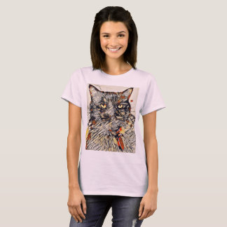 Der abstrakte T - Shirt der Katzen-Frauen blaß -