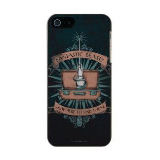 Der Aktenkoffer-Grafik fantastischen Tierenewts Incipio Feather® Shine iPhone 5 Hülle