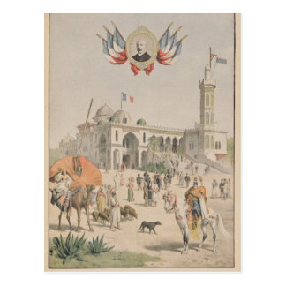 Der algerische Pavillon an der universellen Postkarte