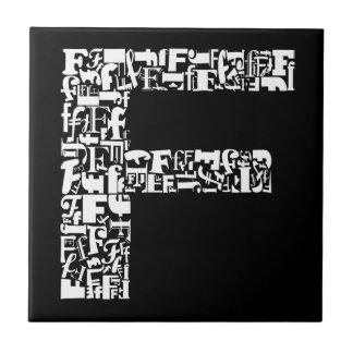 Der Alphabet-Buchstabe F Keramikfliese