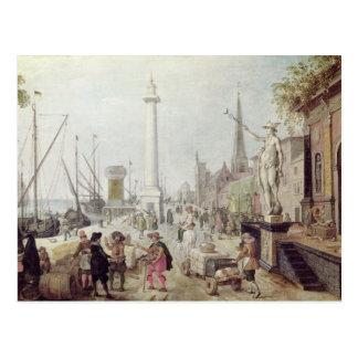 Der alte Hafen von Antwerpen Postkarte