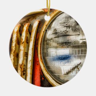 Der alte LKW Rundes Keramik Ornament