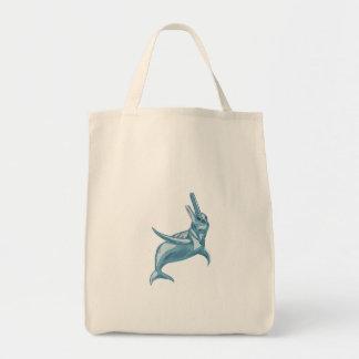 Der Amazonas-Delphin-Zeichnen Tragetasche