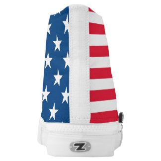 Der amerikanische Geist in jedem Schritt Hoch-geschnittene Sneaker
