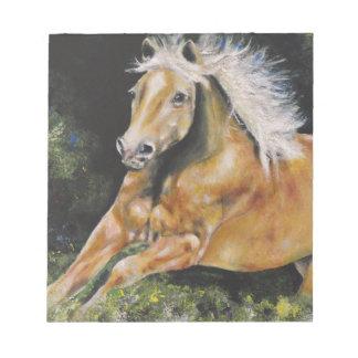Der amerikanische Mustang Notizblock