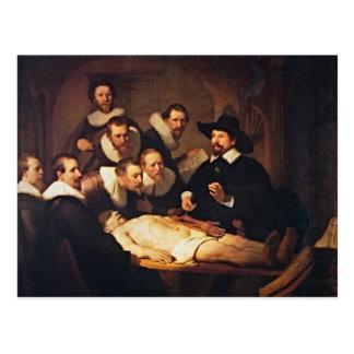 Der Anatomie-Vortrag durch Rembrandt Postkarte