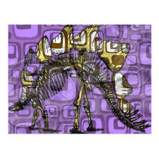 """""""Der andere lila Dinosaurier """" Postkarte"""