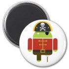 Der androide Piraten-Magnet Runder Magnet 5,1 Cm