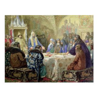 Der Anfang von Kirchen-Uneinigkeit in Russland Postkarte