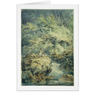 Der Angler, 1794 (w/c über Graphit auf Papier) Grußkarte