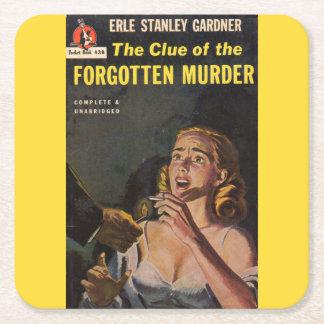 Der Anhaltspunkt des vergessenen Mordes Rechteckiger Pappuntersetzer