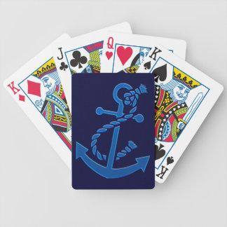 Der Anker-Seemarinethemenorientiertes des blauen Bicycle Spielkarten