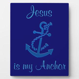 Der Anker-Seemarinethemenorientiertes des blauen Fotoplatte