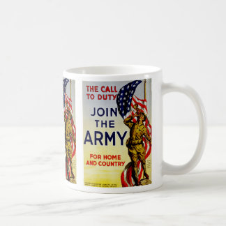 Der Anruf zu Aufgabe ~ verbinden die Armee Kaffeetasse