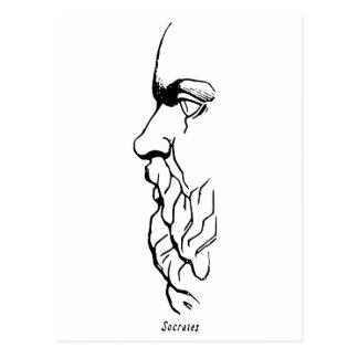 Der Antlitz von SOCRATES Postkarte