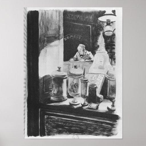 Der Apotheker Homais Posterdruck