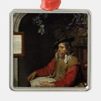 Der Apotheker oder, der Chemiker Quadratisches Silberfarbenes Ornament