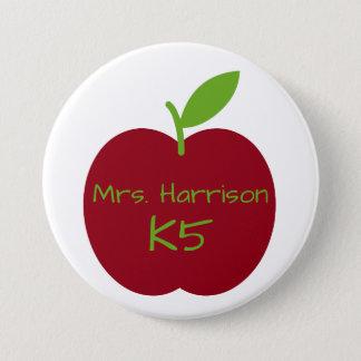 Der Apple des roten und grünen Lehrers Runder Button 7,6 Cm