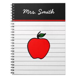 Der Apple-Notizbuch-Geschenk des personalisierten Spiral Notizblock