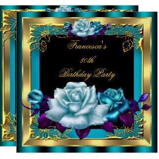 Der aquamarine lila Geburtstag 4 der Karte