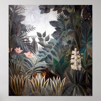 Der äquatoriale Dschungel Poster