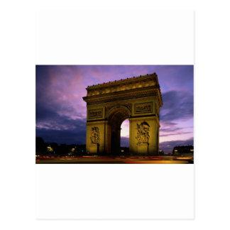 der Arc de Triomphe an der Dämmerung, Paris, Postkarte