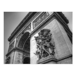 Der Arc de Triomphe b/w Postkarte