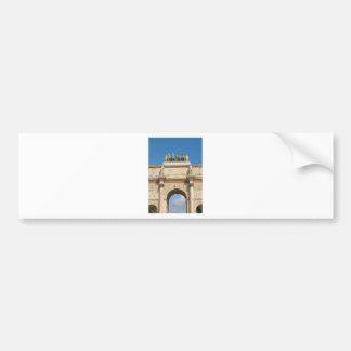 Der Arc de Triomphe du Carrousel in Paris, Autoaufkleber