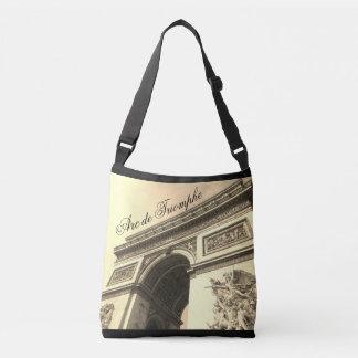 Der Arc de Triomphe Frankreich Sepia-Vintage Tragetaschen Mit Langen Trägern