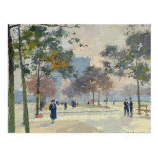 Der Arc de Triomphe im Herbst, Paris Postkarte