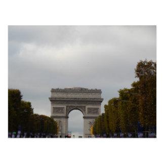 Der Arc de Triomphe kaut Elysees Paris Frankreich Postkarte