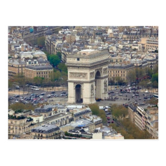 Der Arc de Triomphe Paris Frankreich Postkarte