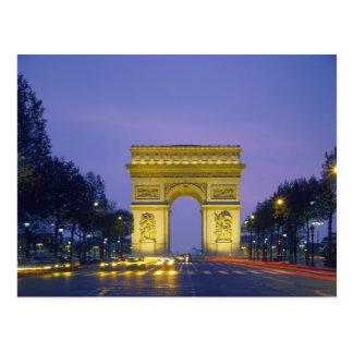 Der Arc de Triomphe, Paris, Frankreich, Postkarte