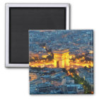 Der Arc de Triomphe, Paris, Frankreich Quadratischer Magnet