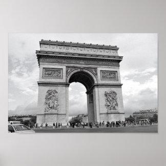 Der Arc de Triomphe Paris Poster