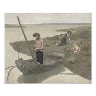 Der arme Fischer durch Puvis de Chavannes Kunst Photo