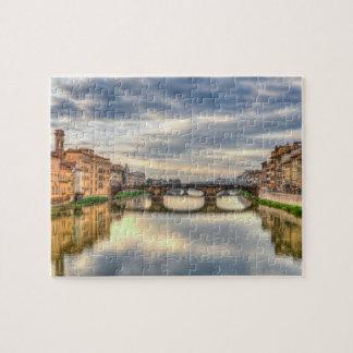 Der Arno-Fluss, Florenz, Italien Puzzle