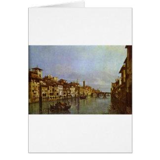 Der Arno in Florenz durch Bernardo Bellotto Karte