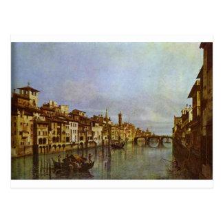 Der Arno in Florenz durch Bernardo Bellotto Postkarte