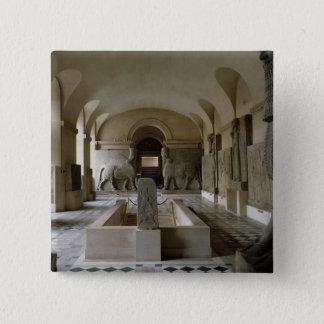Der Assyrian Raum an der Jalousie in Paris (Foto) Quadratischer Button 5,1 Cm