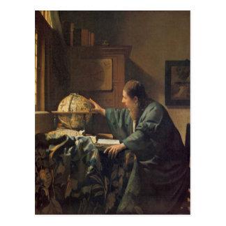 Der Astronom durch Johannes Vermeer Postkarte