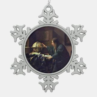 Der Astronom durch Johannes Vermeer Schneeflocken Zinn-Ornament