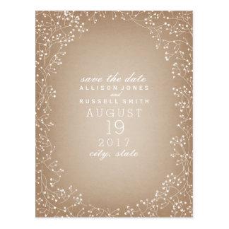 Der Atem des Babys Cardstock Save the Date Postkarte