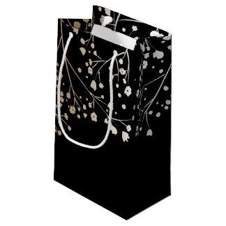 Der Atem-elegante schwarze Hochzeit des Goldbabys Kleine Geschenktüte