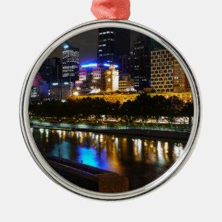Der atemberaubende Yarra und MelbourneSkyline Silbernes Ornament