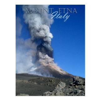 Der Ätna - vulkanische Eruption Postkarte